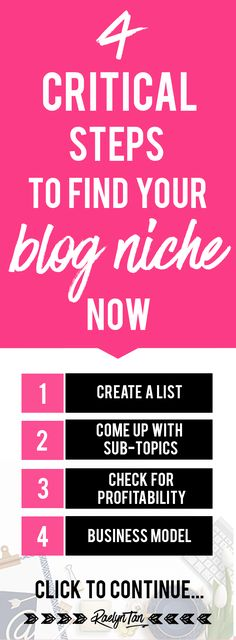 Finding a niche for your blog and business? Follow these 4 steps to find a niche that you love that will make you money! Tons of tips for bloggers and online entrepreneurs to find their niche, anyone?
