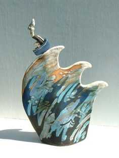 Ceramics by Terri Smart at Studiopottery.co.uk - Riding High is approx. 19cm high, 2007.