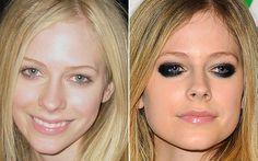 Avril Lavigne fica muito diferente sem seu tradicional olho preto esfumado, mas consegue ser linda mesmo assim!   Celebridades com e sem make - Beleza - CAPRICHO