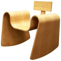 105 Rocking Chair in Molded Plywood with Natural Finish 1