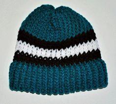 SJ Sharks-inspired handmade beanie hat via Etsy