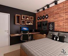 Home design: Garden Design Ideas at Home That Make You Cozy and Fresh Music Bedroom, Bedroom Setup, Room Ideas Bedroom, Home Room Design, Home Design Decor, Home Interior Design, House Design, Home Decor, Modern Mens Bedroom