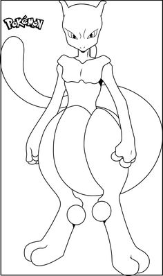 Mega mewtwo y pokemon coloring pages ~ Mewtwo | Pokemon coloring pages, Pokemon coloring ...