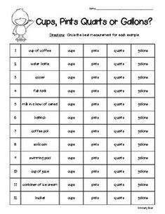 metric liquid volume capacity milliliters or liters measurement worksheet 4 little baers. Black Bedroom Furniture Sets. Home Design Ideas