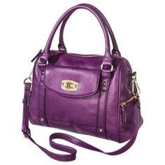 Merona® Zip Closure Satchel Handbag - Purple