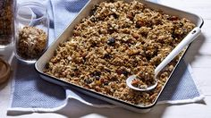 Karen Martini's chia, almond and pumpkin seed toasted muesli has a crunchy, nutty texture.