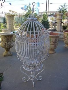 Antique Birdcage from France-Early 1900's. This would look fabulous at my place.