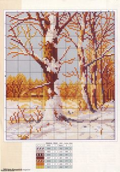 Path Among the Trees 3 of 4 Cross Stitch House, Cross Stitch Tree, Cross Stitch Boards, Beaded Cross Stitch, Cross Stitch Flowers, Cross Stitch Embroidery, Cross Stitch Designs, Cross Stitch Patterns, Bordados E Cia