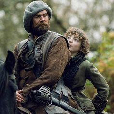 These two are back at it again. See Murtagh and Fergus in action tonight on #Outlander.