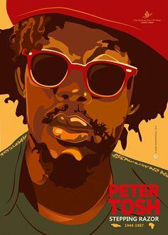 Celebrating Peter Tosh } Poster design by Maria Papaefstathiou Reggae Rasta, Rasta Art, Reggae Music, Peter Tosh, Bob Marley Pictures, Famous Legends, Jah Rastafari, Dancehall, Reggae Artists