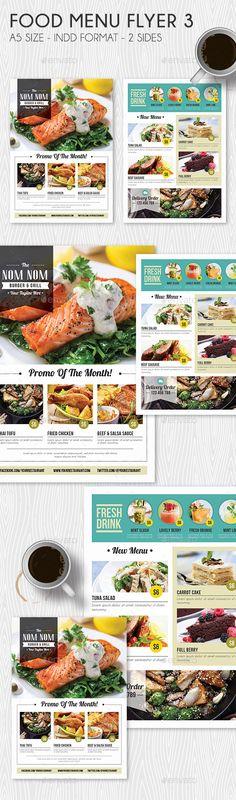 Food Menu Flyer Template InDesign INDD. Download here: http://graphicriver.net/item/food-menu-flyer-3/15595216?ref=ksioks