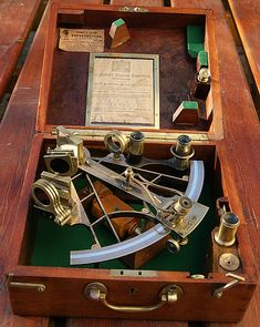"""Antique Sextant... As Norman Schwartzkopf would say...""""When the bovine excrement hits the whirling blades"""" will ANYONE even know how to use one of these properly?"""
