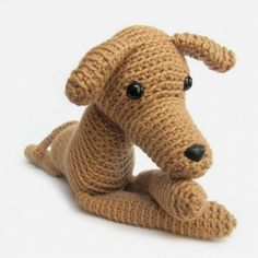 Iggy the Greyhound amigurumi pattern by FreshStitches