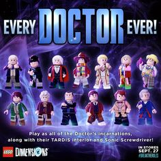 Lego Dimensions (Doctor Who) starter pack is released in the US today Lego Doctor Who, Doctor Who Craft, 13th Doctor, Eleventh Doctor, Lego Dimensions, Batman Movie 2017, Playstation, Xbox, Serie Doctor
