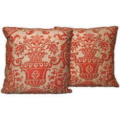 Pair of Fortuny Fabric Cushions | From a unique collection of antique and modern pillows and throws at https://www.1stdibs.com/furniture/more-furniture-collectibles/pillows-throws/