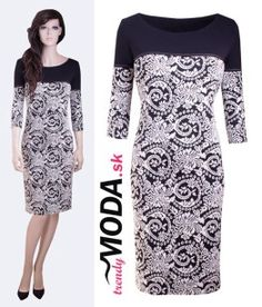 Čiernobiele šaty do práce - trendymoda.sk Dresses For Work, Fashion, Moda, Fashion Styles, Fashion Illustrations