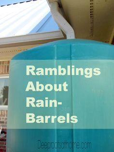 Ramblings About Rain-Barrels