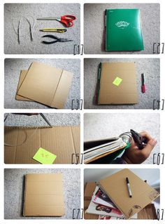 Perfect for back to school! Learn to recover notebooks.   #school #craft #DIY