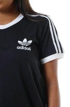 Adidas Shoes OFF! ►► Shirt: womans adidas shirt black adidas shirt adidas adidas originals adidas shirt black t-shirt - Wheretoget Adidas Shirt, Camisa Adidas, Adidas Outfit, Look Fashion, Teen Fashion, Runway Fashion, Fashion Trends, Fashion Shoes, Sport Fashion