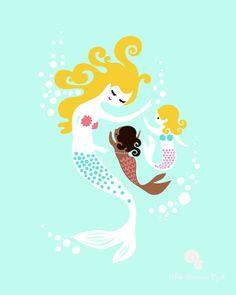 "11X14"" Mermaid Print for Hannah"