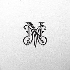 Monogram for luxury wedding by Natalia Kuchumova, via Behance