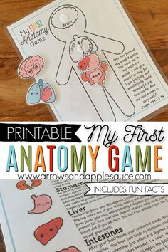 Learning about the human anotomy is fun and easy for kids with My First Anatomy game. Identify, match, and learn! We are fearfully and wonderfully made! - Education and lifestyle Preschool At Home, Preschool Science, Science For Kids, Science Activities, Activities For Kids, Human Body Activities, Homeschool Curriculum, Homeschooling, Science Curriculum