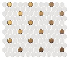 Hexagon Mosaic Tile, Ceramic Mosaic Tile, Porcelain Tile, Hexagon Tile Backsplash, Cement Tiles, Hexagon Tile Bathroom, Vanity Backsplash, Marble Tiles, Gold Bathroom