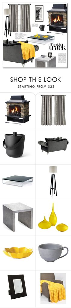 """""""fireplace"""" by limass ❤ liked on Polyvore featuring interior, interiors, interior design, home, home decor, interior decorating, Menu, Heathfield & Co., Michael Aram and Cyan Design"""