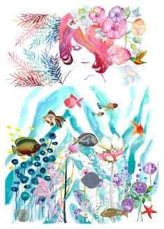 """""""Aquarium"""" by haveaflowerday ❤ liked on Polyvore featuring art"""
