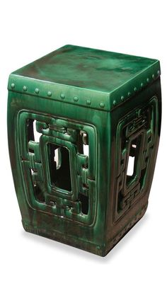 Emerald Green Chinese Garden Stool / Side Table, Emerald Color of 2013, over 3,000 beautiful limited production interior design inspirations inc, furniture, lighting, mirrors, tabletop accents and gift ideas to enjoy pin and share at InStyle Decor Beverly Hills Hollywood Luxury Home Decor enjoy  happy pinning