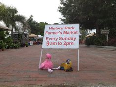 Patsy and Paulie visited the History Park Farmer's Market in Punta Gorda, Florida