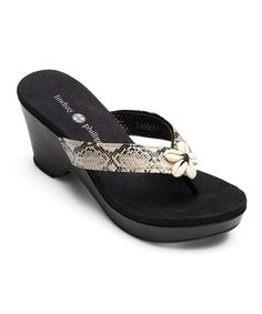 Another great find on #zulily! Black Brenna Sandal by Lindsay Phillips #zulilyfinds