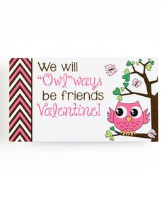 Love this 'Owl-Ways Be Friends' Blank Valentine - Set of 20 by Stamp Out Online on #zulily! #zulilyfinds
