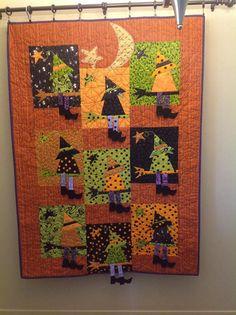 witch Halloween quilt