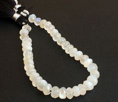 White Moonstone Beads White Moonstone Faceted by gemsforjewels