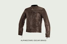 Alpinestars has a long and rich heritage that goes back to its days as a motocross boot specialist in the early 1960s. The Italian company is now capitalizing on that heritage with its retro-themed Oscar range, headlined by this very classy café racer style jacket.