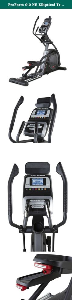 ProForm 9.0 NE Elliptical Trainers. Technology and fitness combine for an enhanced workout experience with the ProForm 9.0 NE Elliptical. The latest iFit technology allows you to access Google Maps and draw your next route anywhere in the world. And the 20-inch power adjustable stride helps you find the perfect fit throughout your workout. Experience a smooth and natural stride with the 28-pound inertia-enhanced flywheel-engineered with a faster gear ratio and effective weight placement…