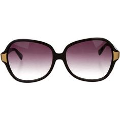 Oliver Peoples Black Oversize Sunglasses (€67) ❤ liked on Polyvore featuring accessories, eyewear, sunglasses, black, gradient lens sunglasses, oliver peoples glasses, over sized sunglasses, oliver peoples eyewear and oversized eyewear
