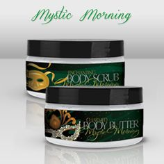 use coupon code PGBC for $10 off!   Our exclusive Body Scrub, Body Butter will help transform your dry skin to soft, supple, beg to be touched skin. Don't forget your candle to complete the set (pictured) The Mystic Morning fragrance is soft and breezy with hints of White Tea and energizing Ginger. It is the perfect start to any day and yet soft enough to create ambiance and romance.    Only... $31.95