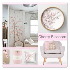 """""""Cherry Blossom"""" by farmgirl2015 ❤ liked on Polyvore featuring interior, interiors, interior design, home, home decor, interior decorating, Casetify and Kate Spade"""