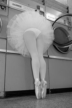 How a ballerina does laundry...............well, shit! I always wondered how they did it.
