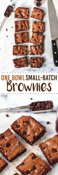 This recipe for small-batch brownies makes just ten average-sized brownies, making them perfect for those times you'd like to indulge in moderation. These brownies are fudgy and feature the classic shiny, crackly tops – all with being made in one bowl.