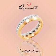 Aliança Romantis Bicolor/ Matizada com Diamantes!  ALR3827A