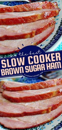 Once you throw this easy main dish in the slow cooker, you won't have it any other way! Flavored with pineapple and brown sugar that melt into the most tantalizing glaze, this crock pot ham recipe is… Thanksgiving Dinner Recipes, Holiday Dinner, Holiday Recipes, Brown Sugar Ham, Best Slow Cooker, Ham Recipes, Easter Dinner, What To Cook, Recipe Collection