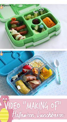 Video Halloween Lunchbox Ideen für Kinder, Frühstücksideen, bentgo kids und yumbox ideas for school