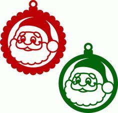 Silhouette Design Store - View Design #71240: christmas balls santa claus