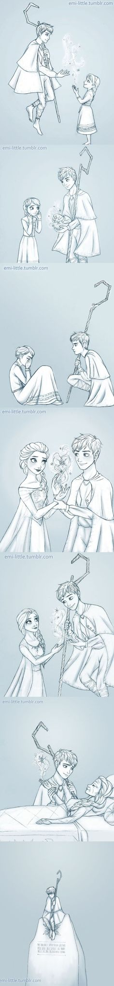 Jack Frost an Elsa Eternity