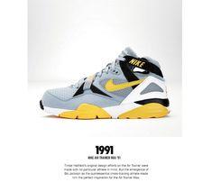 The Genealogy of Nike Training - Page 5 of 6 - SneakerNews.com Darrelle Revis, Michael Vick, Tinker Hatfield, Bo Jackson, Nike Lunar, Cross Training, Genealogy, Trainers, Athlete