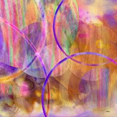 """Pastel Planets (Square Version) by John Robert Beck. This abstract art was created in 2005. Soft pastels blend with rich arches.  ARTIST NOTE: I remember creating Pastel Planets while listening to an orchestral suite by Gustav Holst - """"The Planets"""". J.B."""