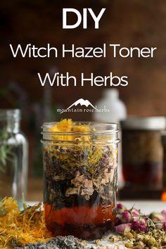 Healing Herbs, Medicinal Herbs, Natural Healing, Natural Medicine, Herbal Medicine, Herbal Remedies, Natural Remedies, Witch Hazel Toner, Mountain Rose Herbs